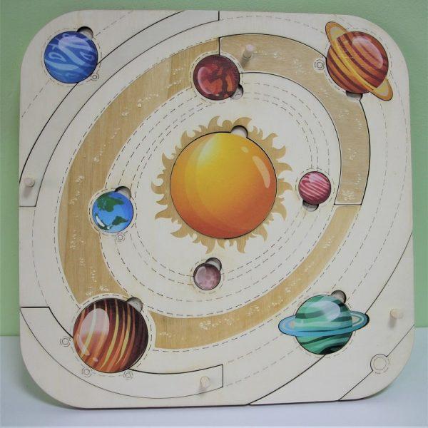 """Обучителен пъзел """"Слънчева система"""""""