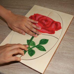 Обучителен пъзел Роза - Неща с душа
