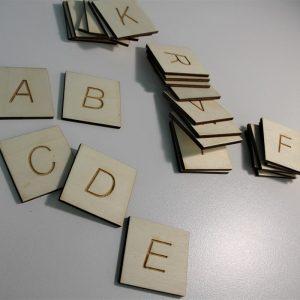 Английски букви за проследяване - Неща с душа