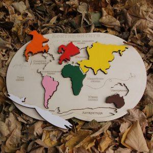 Пъзел Карта на света - Неща с душа
